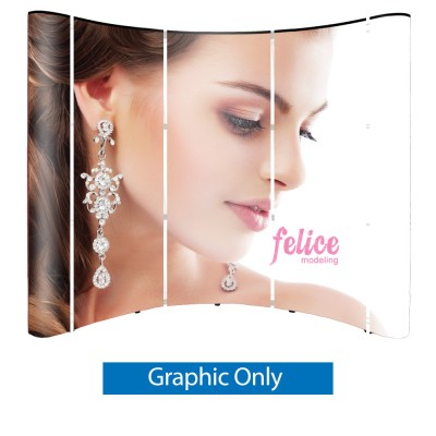 Pop Up 8 ft. Trade Show Display - Graphics Only